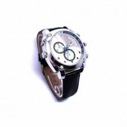 Montre grise vidéo Caméra espion secrète résolution HD 1080P 8Go Vision nocturne waterproof