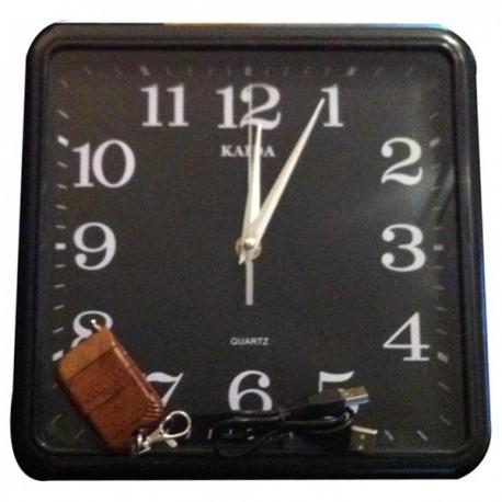 Horloge murale Mini Camera Espion 4Go de mémoire et télécommande