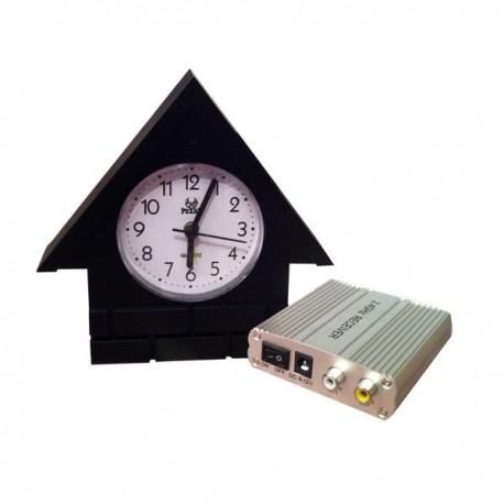 Horloge murale maisonnette avec Mini Caméra Cachée de surveillance avec récepteur sans fil