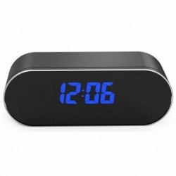 Réveil matin Caché Mini Caméra sans Fil détecteur mouvement Full HD 1080P Wifi vision nocturne