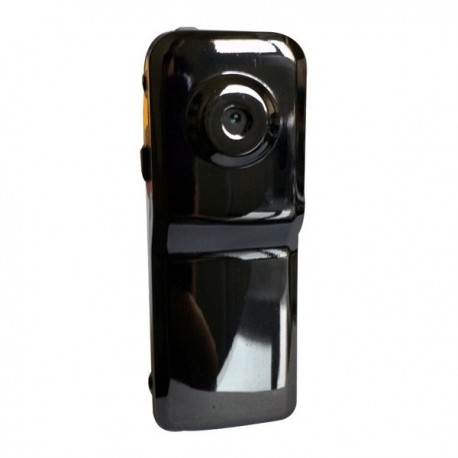 Mini caméra espion fabriquée en métal noire brillante