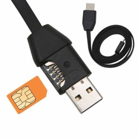 Câble chargeur USB Traceur de position GPS et micro espion