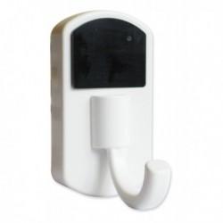 Patère crcochet blanc avec caméra espion et détecteur de mouvement