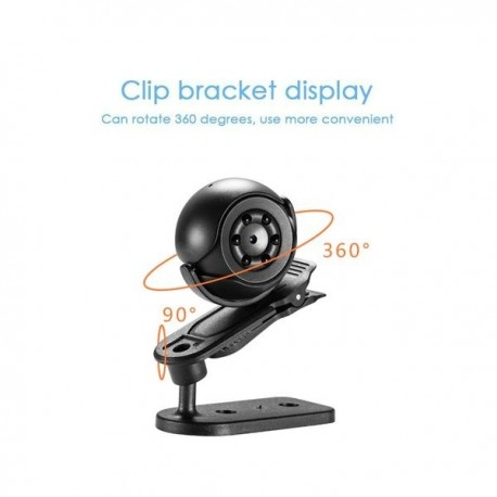 Micro caméra espion 1080P vision à infrarouge et de détection de mouvement