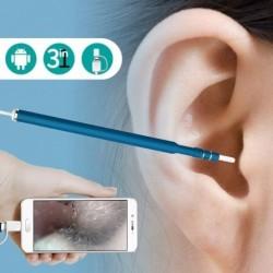 Endoscope pour nettoyage d'oreille à camera pour smartphone HD 720P