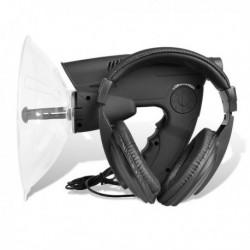 Amplificateur de son parabole jumelle X8 avec casque pour ecoute espion