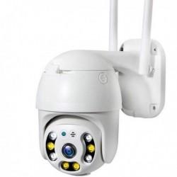 Caméra de surveillance à tête rotative 1080p audio bidirectionnel